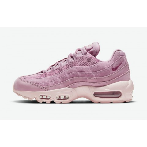 """Nike Air Max 95 Mujer """"Rosas Suede"""" Fireberry/Fireberry-Rosas DD5398-615"""